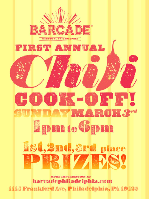 Chili Cook-Off — March 3, 2013