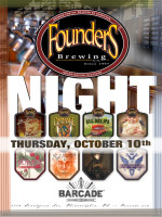 Founders Brewing Night — October 10, 2013 @ Barcade® in Philadelphia, PA