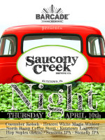 Saucony Creek Brewery Co. Night — April 10, 2014 at Barcade® in Philadelphia, PA