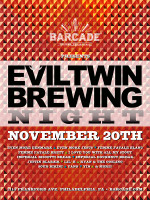 Evil Twin Brewing Night — November 20, 2014 at Barcade® in Philadelphia, PA
