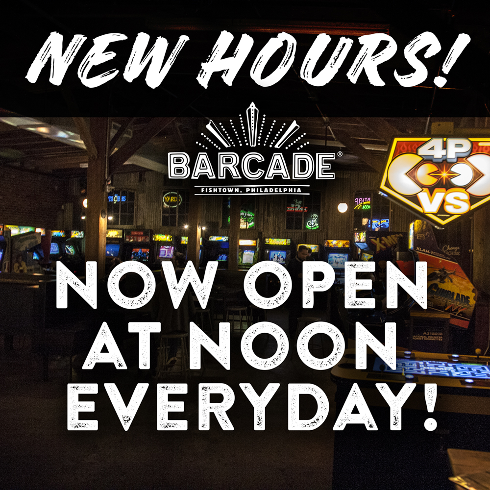 Now Open at Noon Every Day!