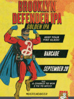 Brooklyn Defender Pint Night — September 28, 2017 at Barcade® in Philadelphia, Pa.
