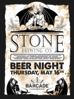 Stone Brewing Night — May 16, 2013 at Barcade® in Philadelphia, PA