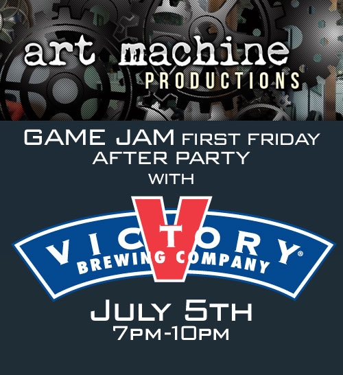 Art Machine Productions GAME JAM First Friday After Party with Victory Brewing at Barcade® in Philadelphia