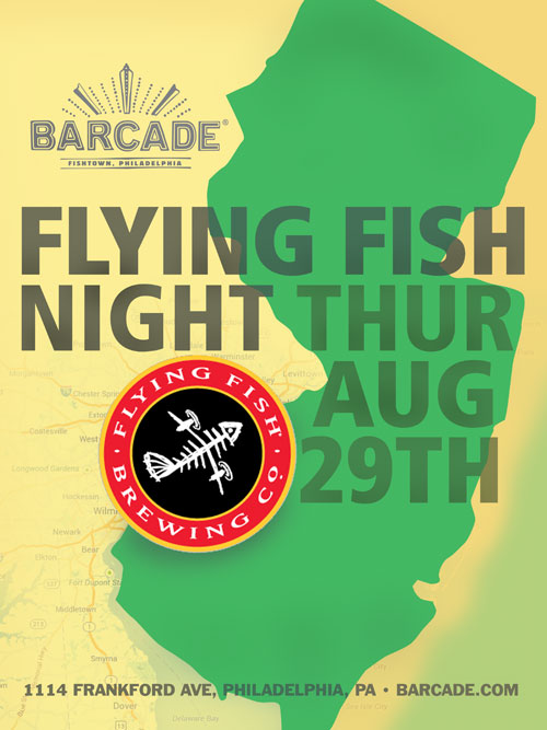 Flying Fish Night — August 29, 2013 at Barcade® in Philadelphia, PA