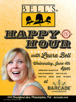 Bell's Brewery Happy Hour with Laura Bell — June 4, 2014 at Barcade® in Philadelphia, PA