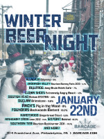 Winter Beer Night — January 22, 2015 at Barcade® in Philadelphia, PA