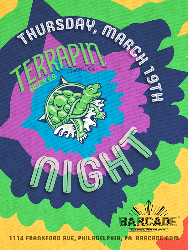 Terrapin Brewing Night — March 19th, 2015 at Barcade® in Philadelphia, PA
