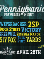 Pennsylvania Breweries Night — April 28, 2016 at Barcade® in Philadelphia, PA