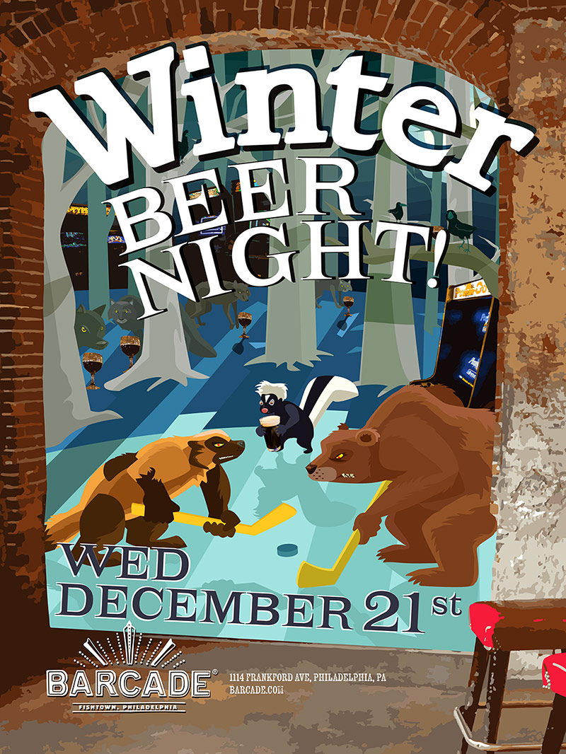 Winter Beer Night — December 21, 2016 at Barcade® in Philadelphia, PA