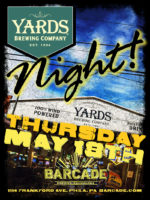 Yards Brewing Company Night — Thursday, May 18, 2017 at Barcade® in Philadelphia, PA