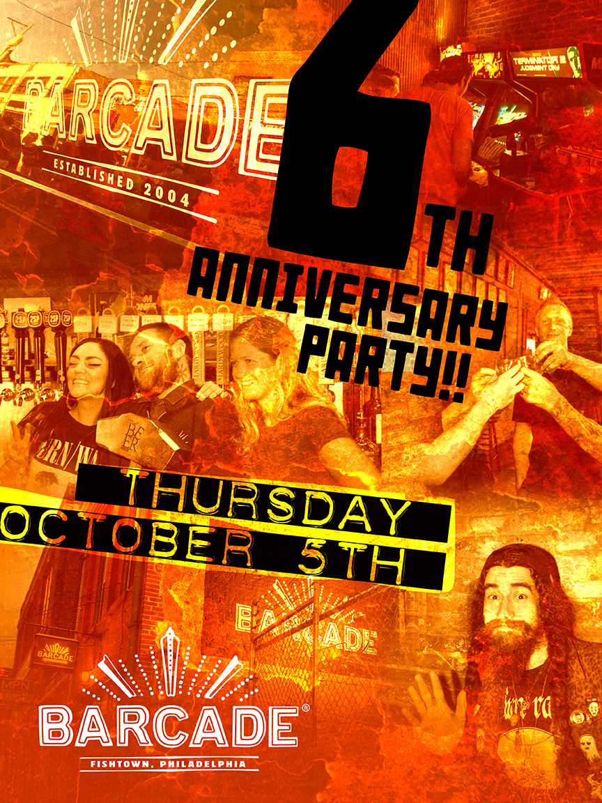Barcade Philadelphia 6th Anniversary Party — October 5, 2017 at Barcade® in Philadelphia, Pa.