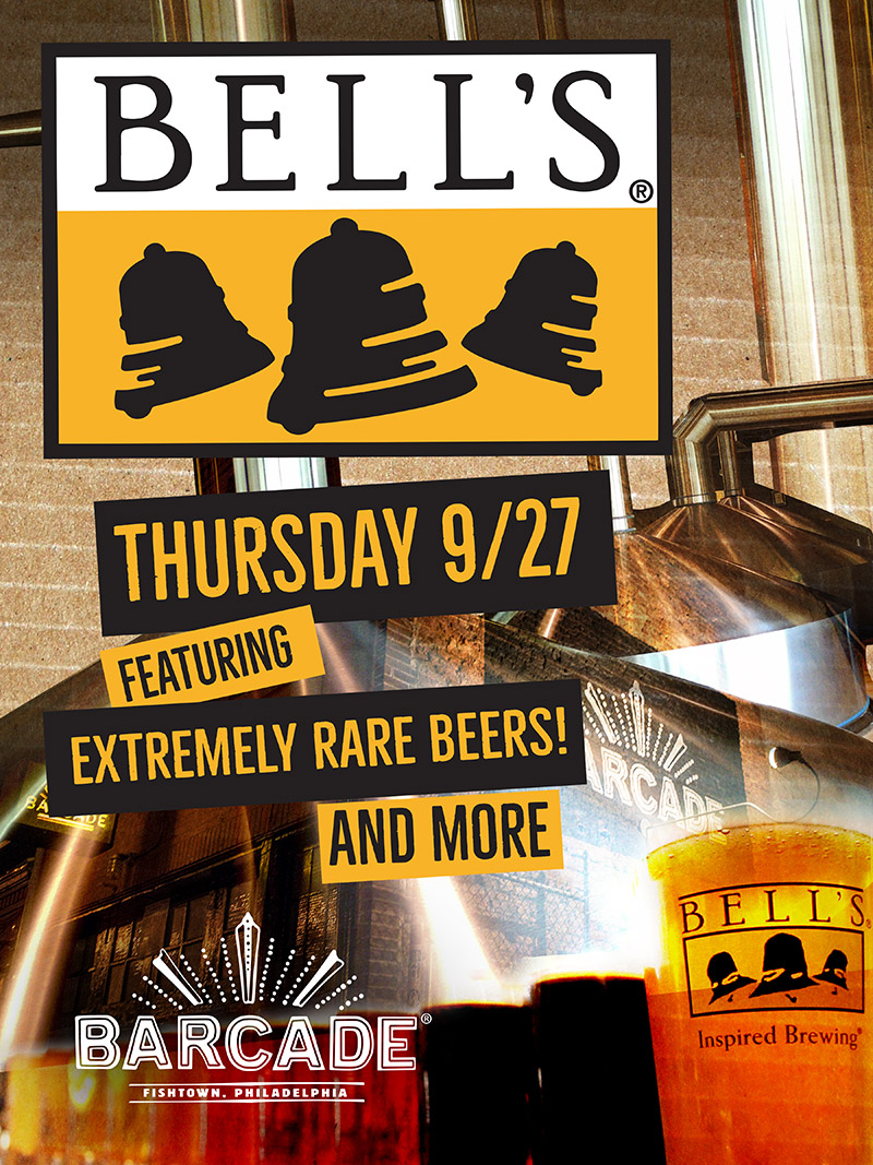 Bell's Brewery Night — September 27, 2018 at Barcade® in Philadelphia, PA