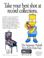 The Simpsons (pinball) — 1990 at Barcade® in Philadelphia, PA | arcade game flyer graphic