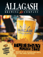 Allagash Beer Night — June 4th, 2019 at Barcade in Philadelphia, PA