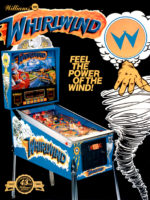 Whirlwind (pinball) — 1990 at Barcade® in Philadelphia, PA | arcade game flyer graphic