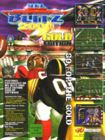 NFL Blitz 2000: Gold Edition — 1999 at Barcade® in Philadelphia, PA | arcade game flyer graphic