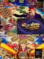 Willy Wonka and the Chocolate Factory (pinball) — 2019 at Barcade® in Philadelphia, PA | arcade game flyer graphic