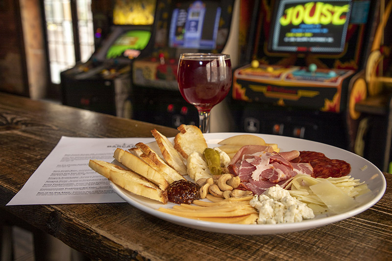 Barcade Philly Food: Meat and Cheese Plate