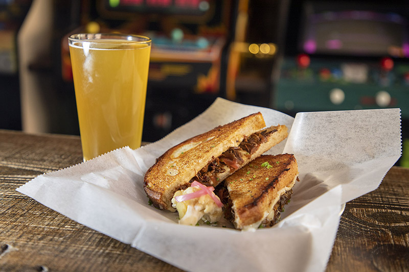 Barcade Philly Food: Short Rib Grilled Cheese