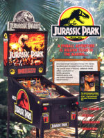 Jurassic Park (pinball) — 1993 at Barcade® in Philadelphia, PA | game flyer graphic