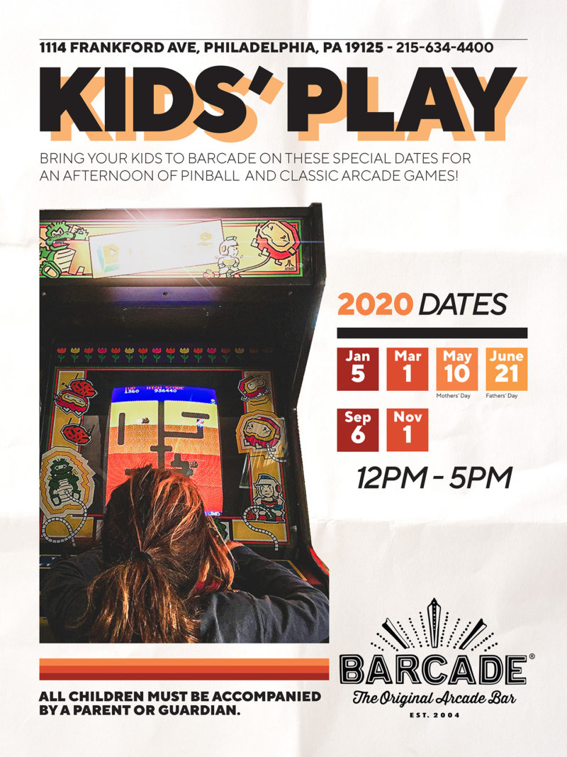 Family Day at Barcade on Sunday, January 5th, 2020 in Philadelphia, PA