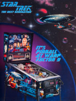 Star Trek: The Next Generation pinball) — 1993 at Barcade® in Philadelphia, PA | game flyer graphic