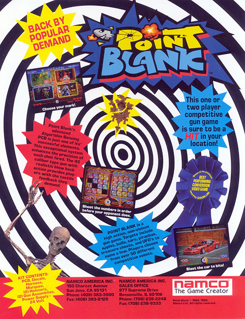Point Blank — 1994 at Barcade® in Philadelphia, PA | game flyer graphic